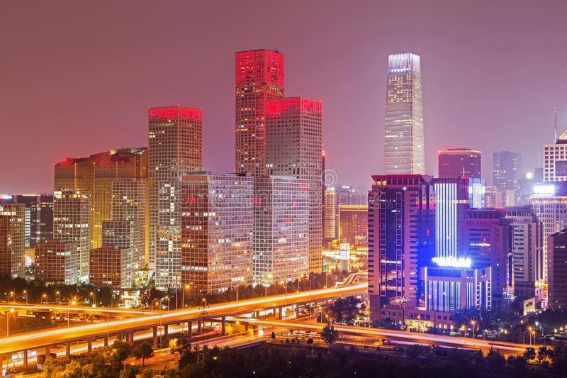 Nacht in Peking stock foto