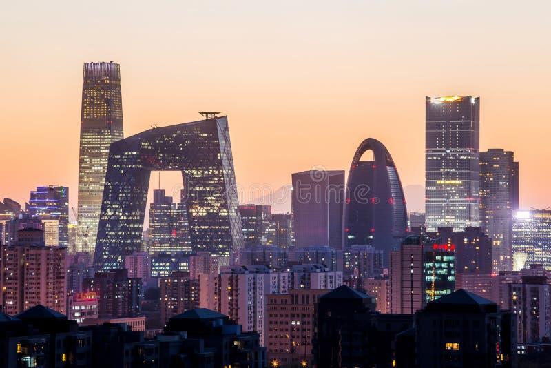 Nacht in Peking lizenzfreies stockfoto