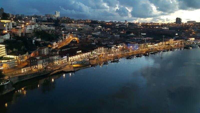 Nacht Porto stockfotografie