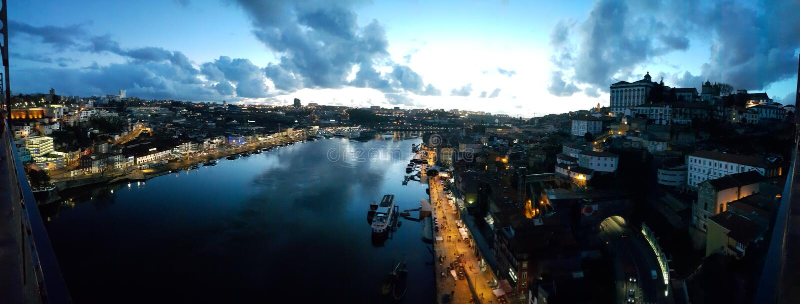 Nacht Porto lizenzfreie stockfotografie