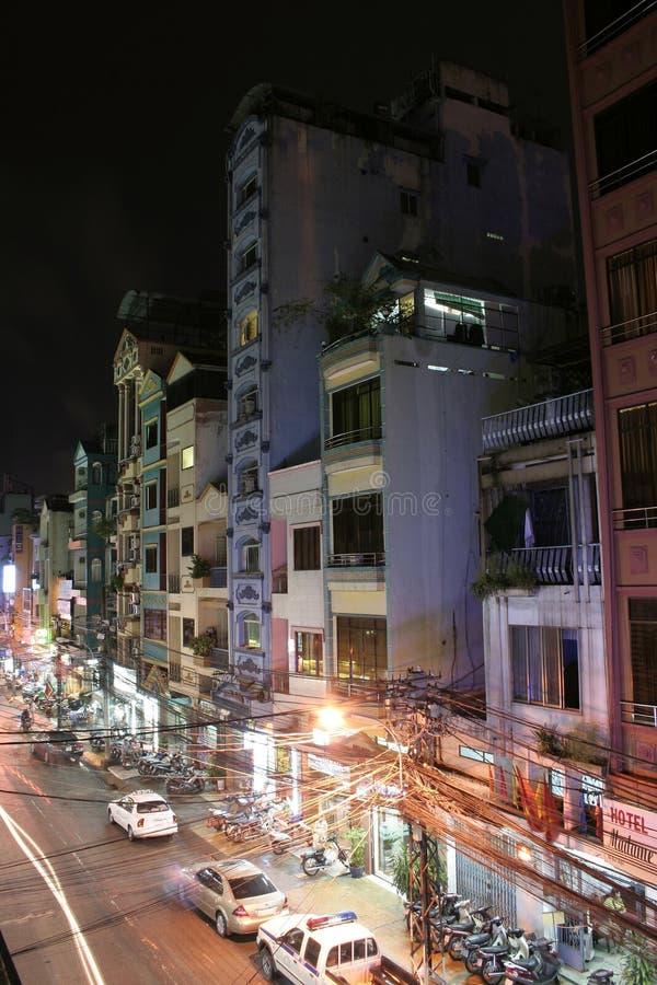 Nacht Saigon stock fotografie