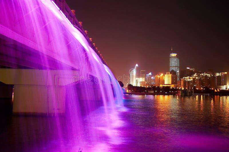 nacht scène van moderne stad stock fotografie