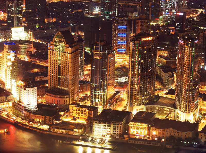 Nacht Shanghai 2 stock afbeeldingen