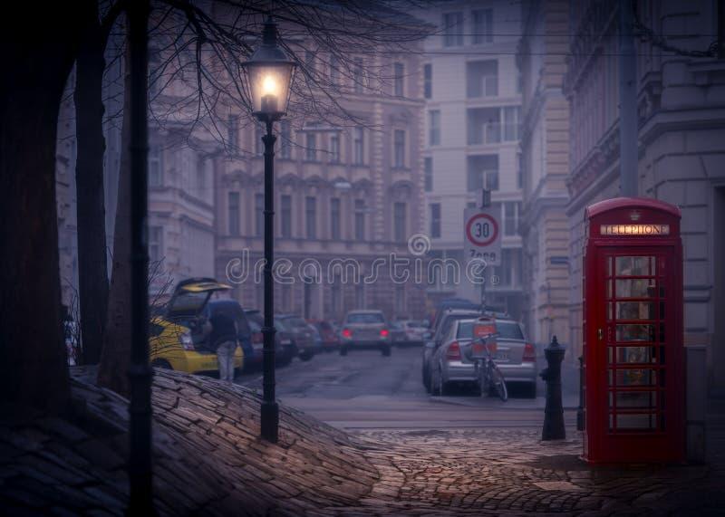 Nacht-srteet von Wien, Österreich, Europa lizenzfreies stockbild