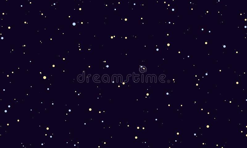 nacht sterrige hemel stock illustratie