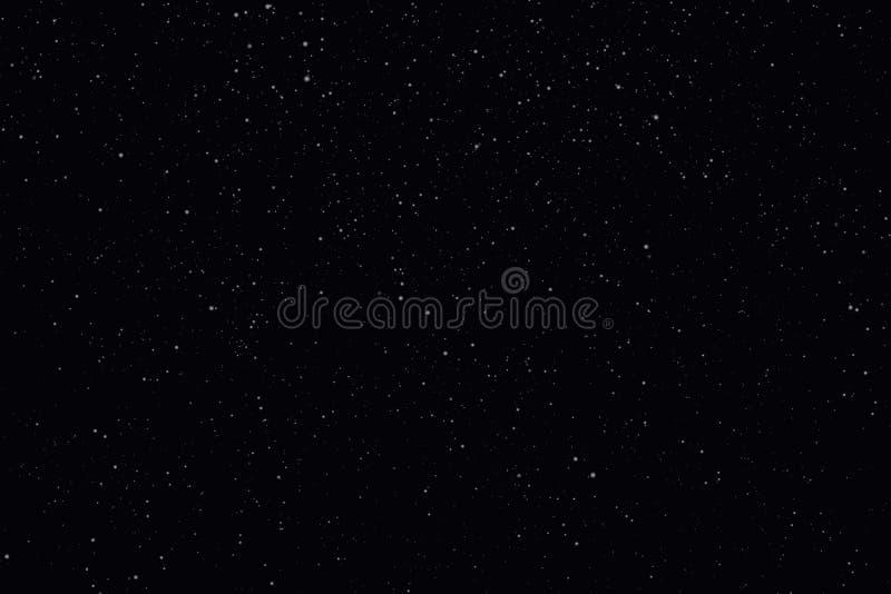 Nacht sterrige hemel met sterren en planeten geschikt als achtergrond royalty-vrije illustratie