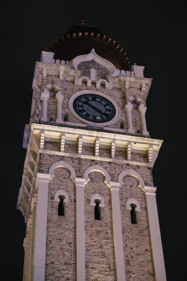 Nacht in Sultan Abdul Samad Building, Kuala Lumpur royalty-vrije stock foto