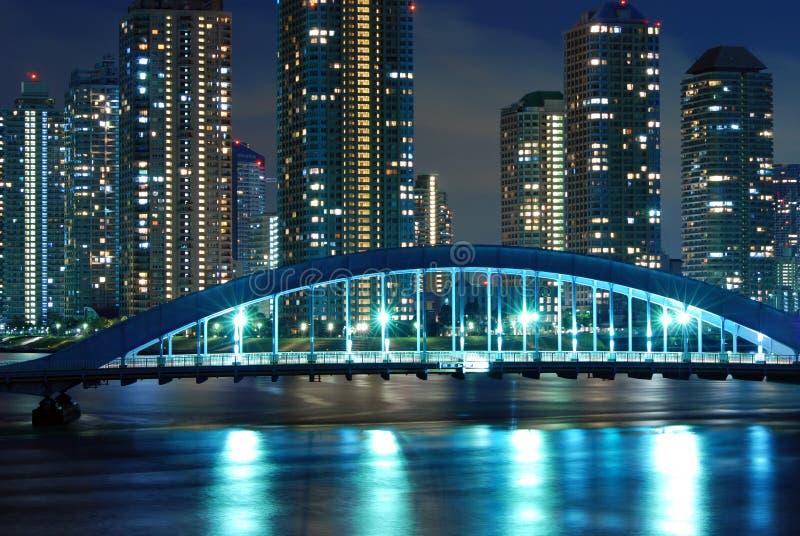 Nacht Tokyo stock fotografie
