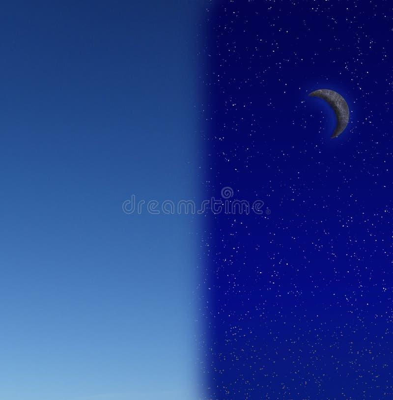Nacht und Tag stockfoto
