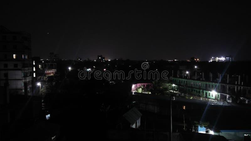 Nacht van Dhaka royalty-vrije stock foto