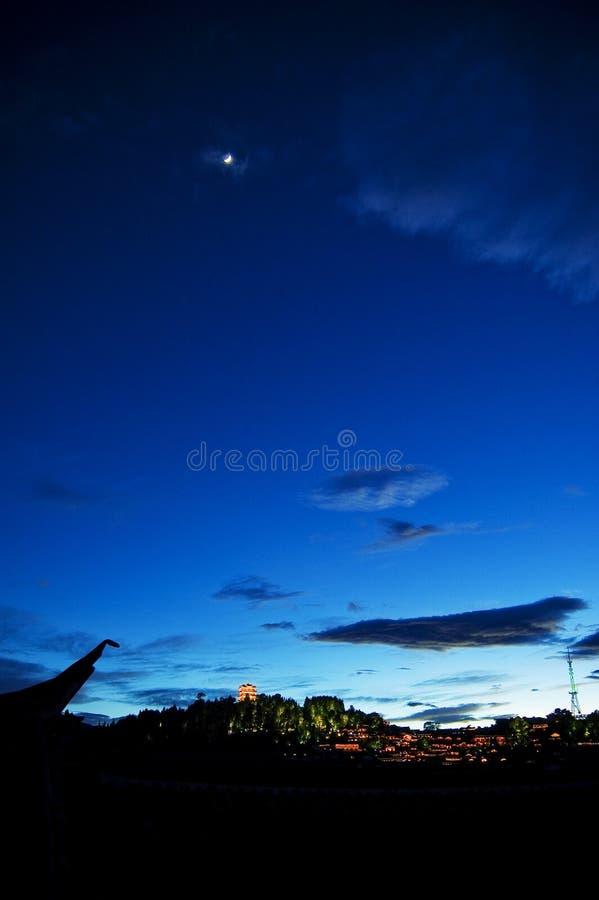 Nacht van lijiang royalty-vrije stock afbeelding