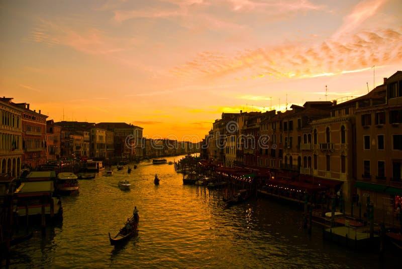 Nacht in Venetië stock foto's