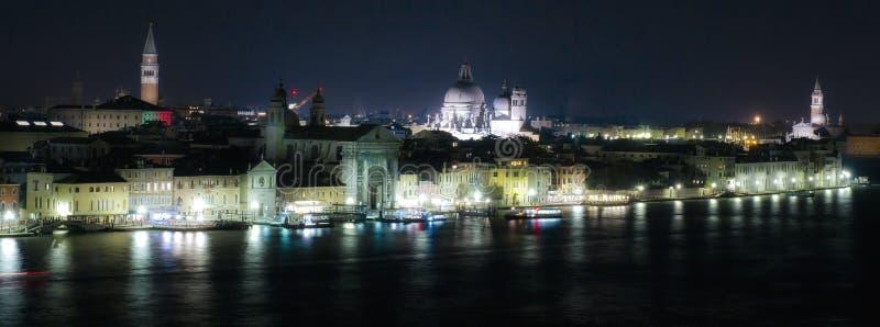 Nacht in Venetië royalty-vrije stock foto