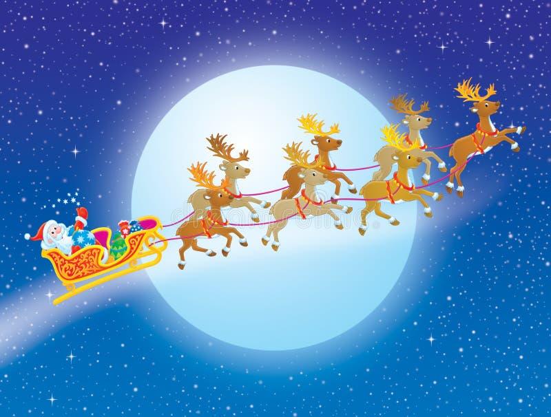 Nacht vor Weihnachten stock abbildung