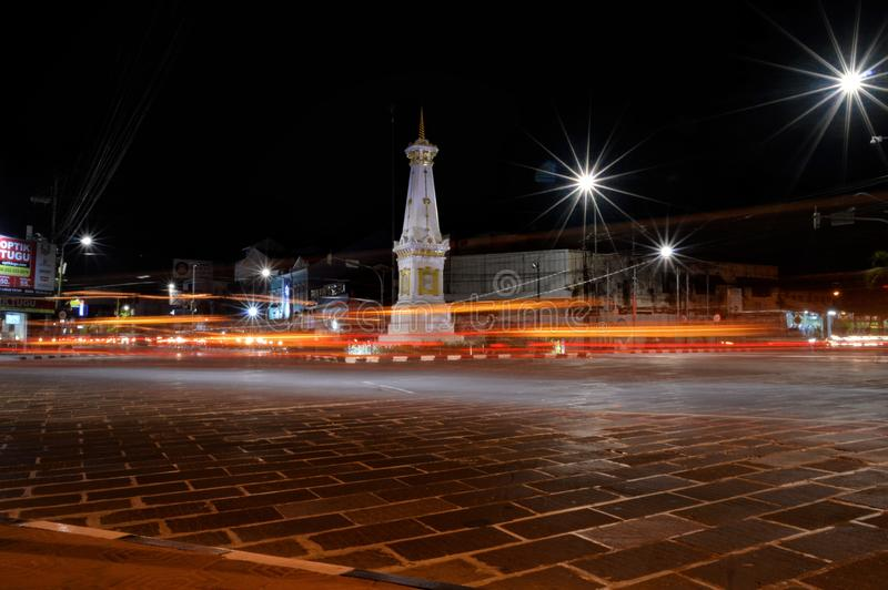 Nacht in Yogyakarta royalty-vrije stock foto