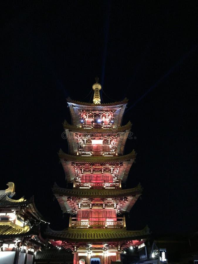 Nachtansicht der Blumenstadt herein lizenzfreies stockbild