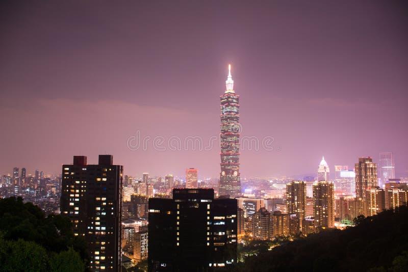 Nachtansicht von Taipeh stockfoto