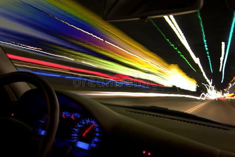 Nachtantreiben lizenzfreie stockfotografie