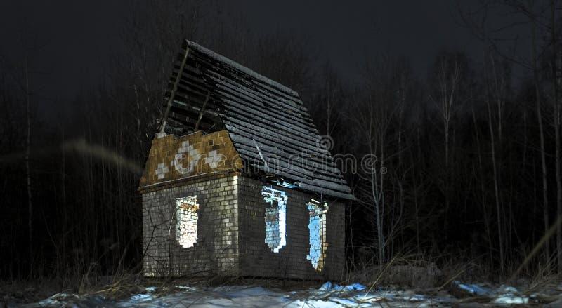 Nachtbelichtungslicht beschattet Mystizismus stockfotos