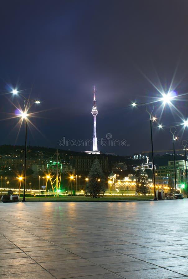 Nachtboulevard stock foto