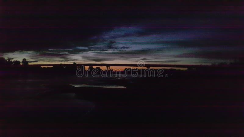 Nachtbrug stock fotografie