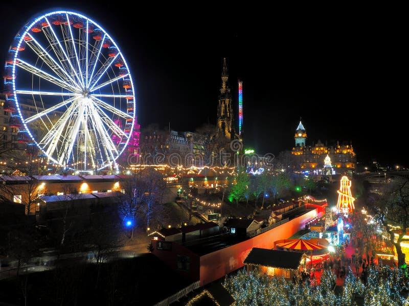 Nachtcharme van Edinburgh royalty-vrije stock afbeelding