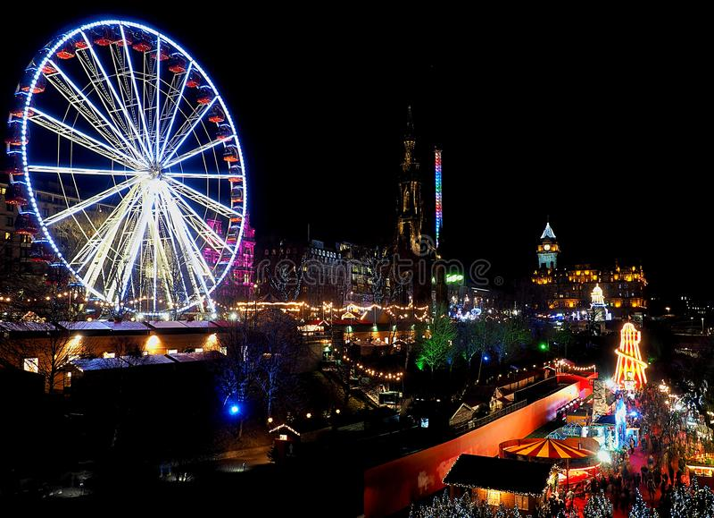Nachtcharme von Edinburgh lizenzfreies stockfoto