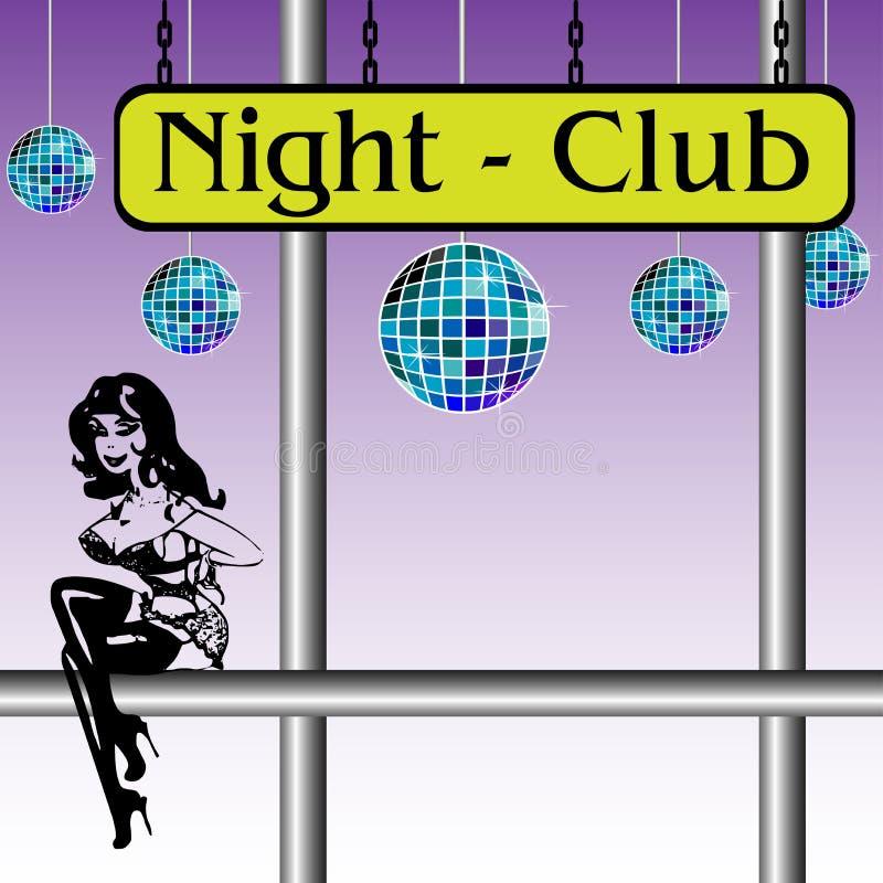 Nachtclub lizenzfreie abbildung