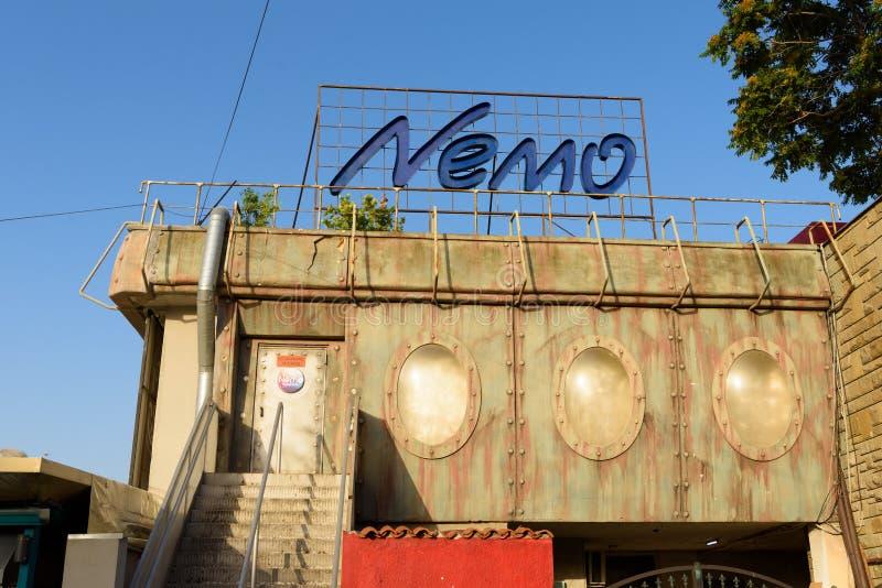 Nachtclub Nemo in Pomorie, Bulgarije stock fotografie