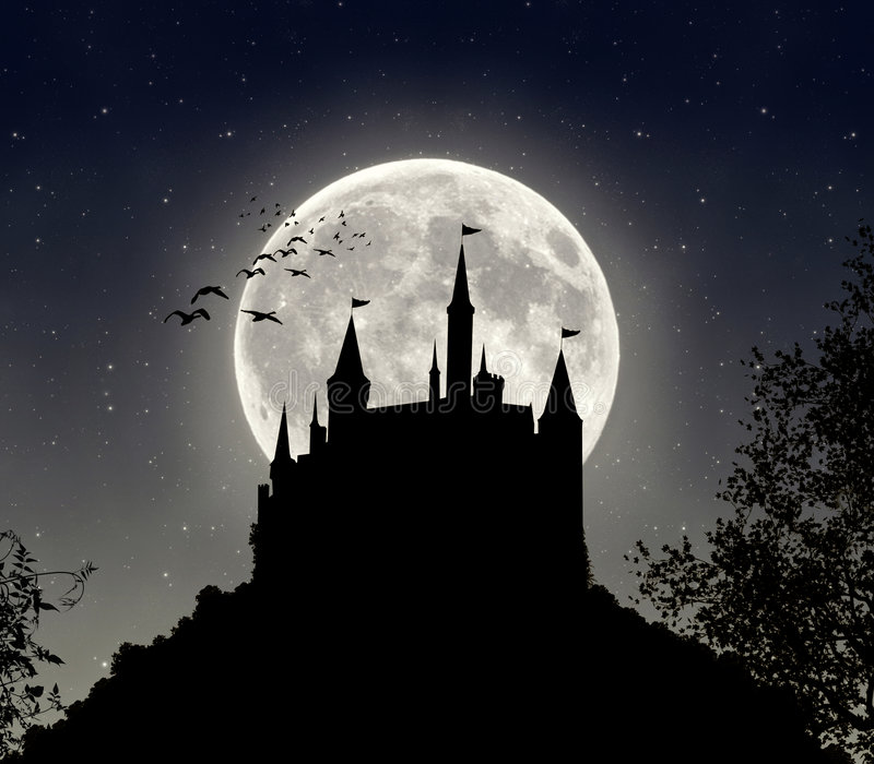 Nachtelijke fantasie stock illustratie