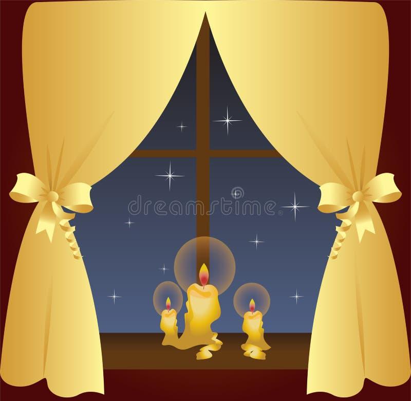 Nachtfenster stock abbildung