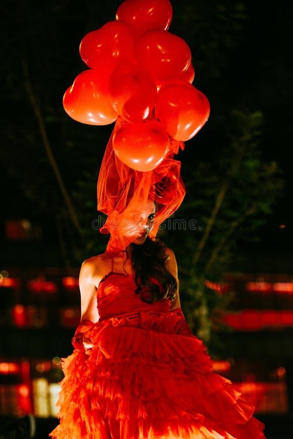 Nachtfestival durch Theater Tol, Belgien stockfoto