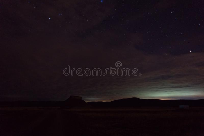 Nachtfoto gemacht am Patagonia Argentinien stockfotografie