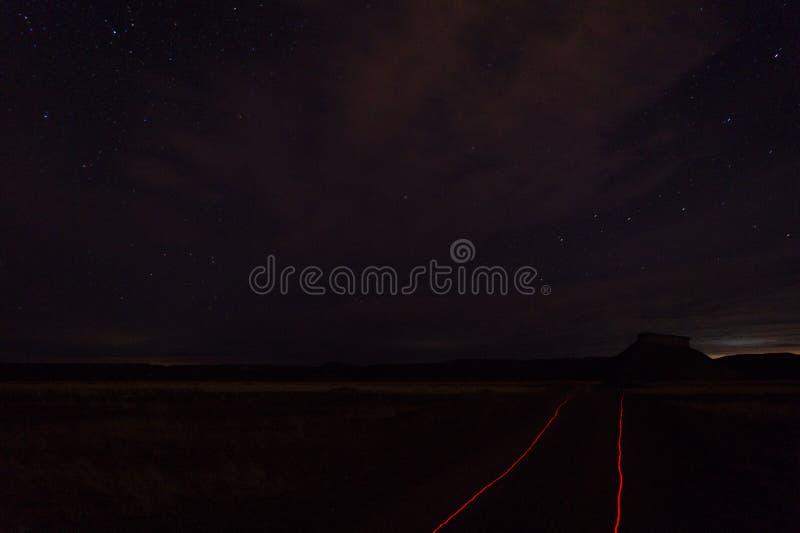 Nachtfoto gemacht am Patagonia Argentinien lizenzfreie stockfotos