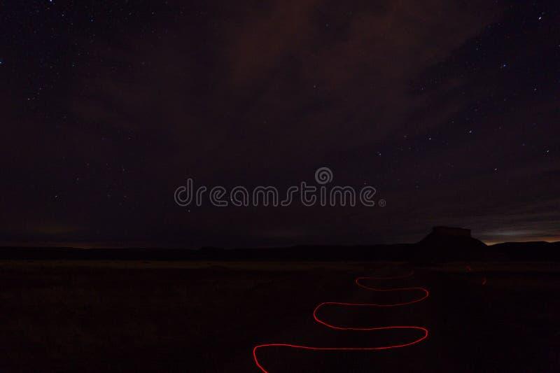 Nachtfoto gemacht am Patagonia Argentinien lizenzfreies stockbild