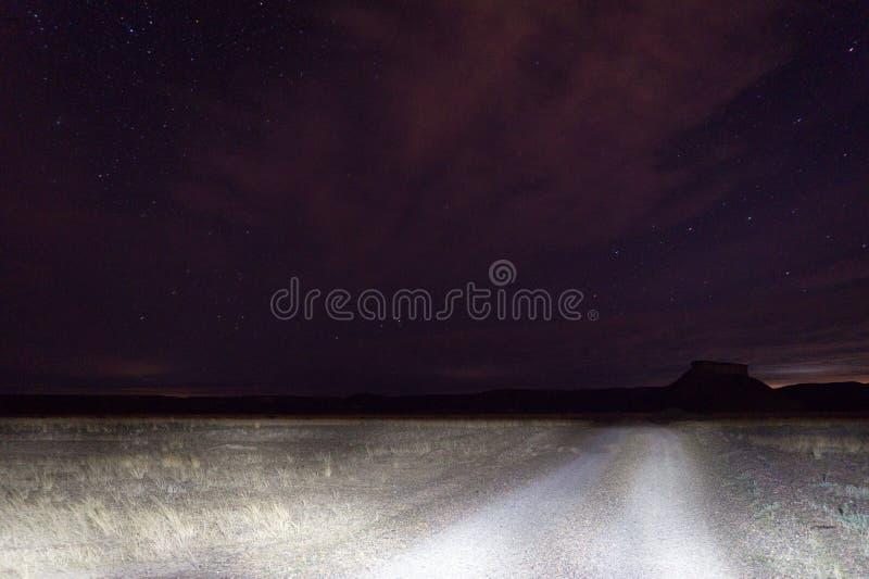 Nachtfoto gemacht am Patagonia Argentinien stockbild