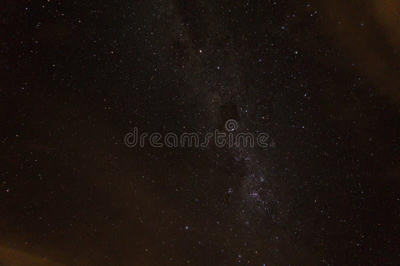 Nachtfoto gemacht vom Patagonier-Himmel lizenzfreie stockbilder