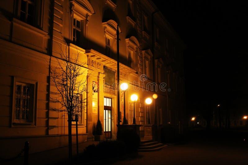 Nachtfoto van kuuroord royalty-vrije stock foto
