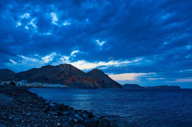 Nachtfotografie van Muscateldruiflandschap, Oman royalty-vrije stock afbeeldingen