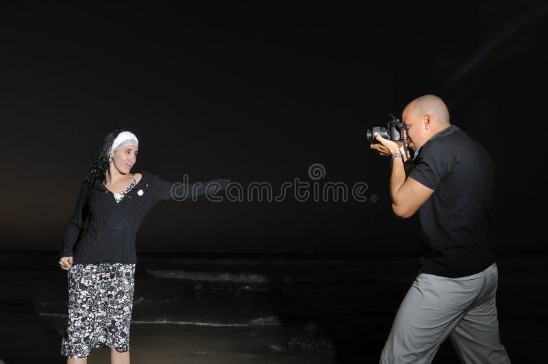 Nachtfotositzung lizenzfreie stockfotos