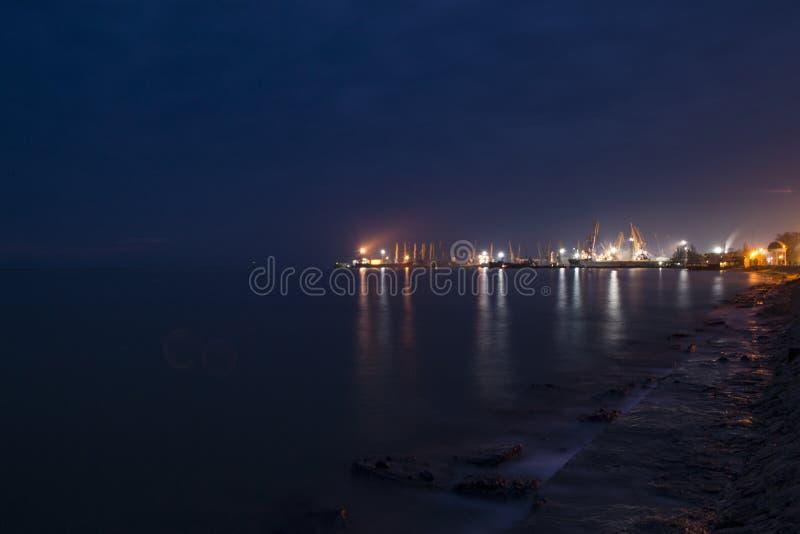 Nachthafen stockfotos