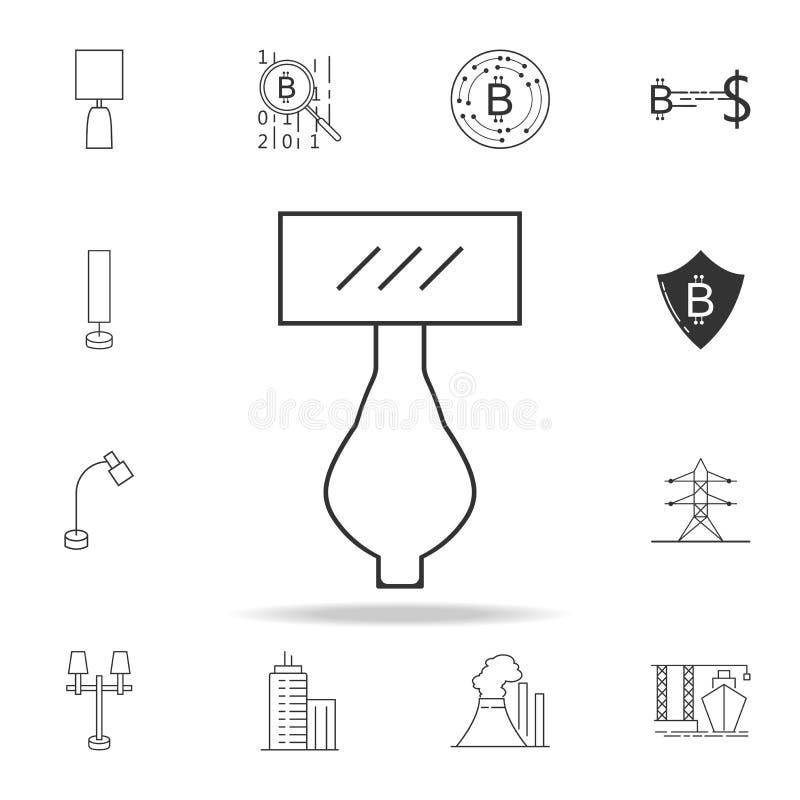 Nachthelle Ikone Ausführlicher Satz Netzikonen und -zeichen Erstklassiges Grafikdesign Eine der Sammlungsikonen für Website, Netz lizenzfreie abbildung