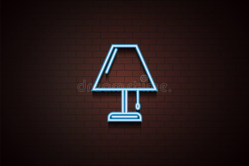 Nachthelle Ikone in der Neonart Ein der Gerätesammlungsikone kann für UI/UX verwendet werden stock abbildung