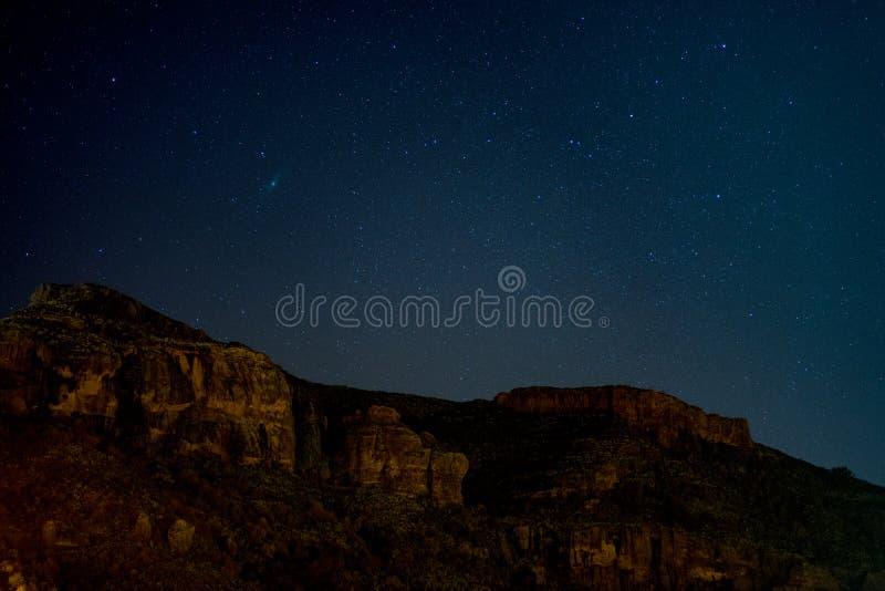 Nachthemel, Gran Canaria royalty-vrije stock afbeelding