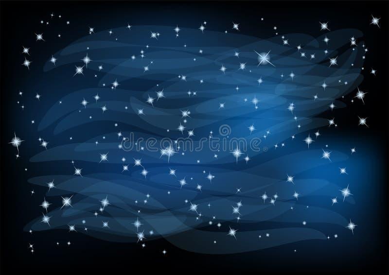 Nachthemel met sterren vector illustratie