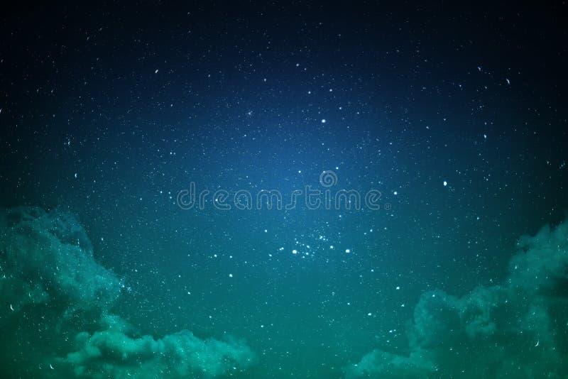 Nachthemel met sterren stock afbeelding