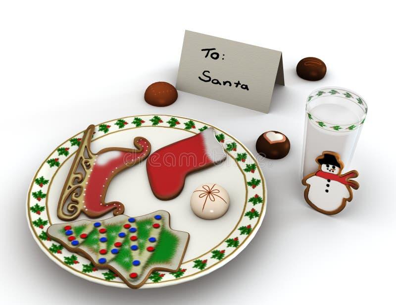 Nachtisch für Santa Claus stock abbildung