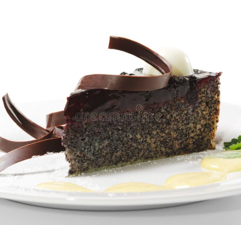 Nachtisch - Schokoladen-Kuchen stockbilder