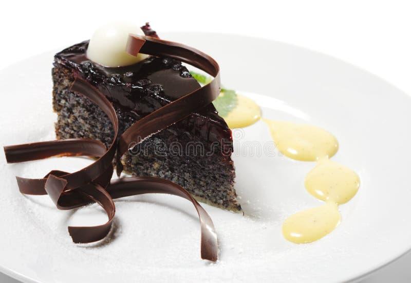 Nachtisch - Schokoladen-Kuchen lizenzfreies stockfoto