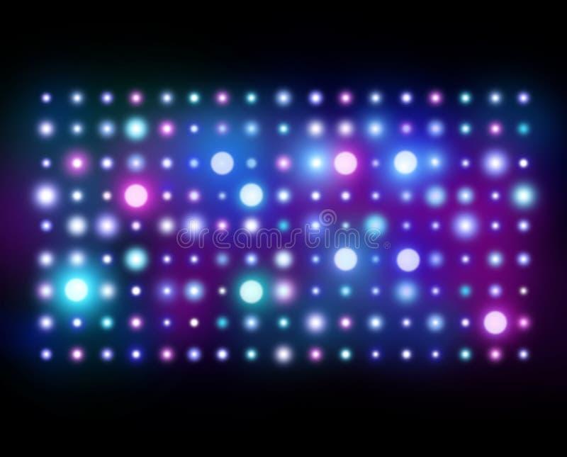 Nachtklub-Hintergrund Abstrakte Leuchten stockbilder